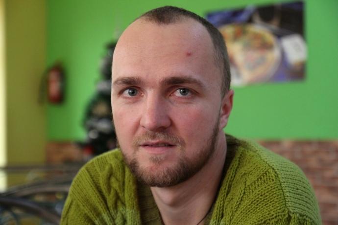 Дмитрий Бондарев, председатель Независимого профсоюза горняков Украины (НПГУ) на