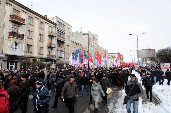 Івано-Франківськ іде маршем Вставай, Україно!