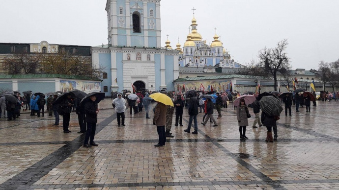 Сторонники Саакашвили устроили марш заимпичмент Порошенко вКиеве