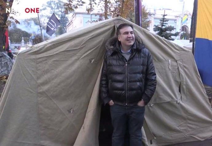 Саакашвили пожил в палатке