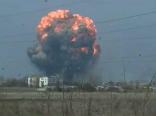 Пожежа на найбільшому в Україні складі зброї