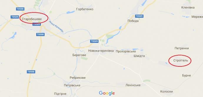 В Строїтелі, за словами очевидців, масові поховання українських солдат