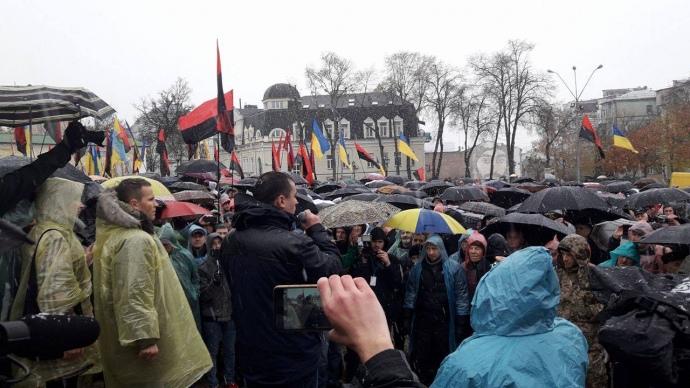 ВКиеве начался «Марш возмущенных», возглавляемый Михаилом Саакашвили