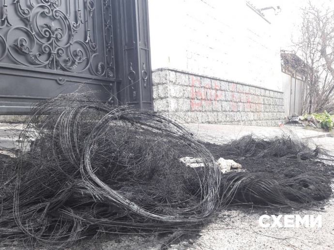 ВКиеве под домом экс-министра энергетики Ставицкого неизвестные подожгли шины,