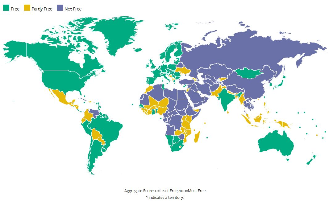 Freedom House: Армения иАрцах частично свободны, Азербайджан несвободен