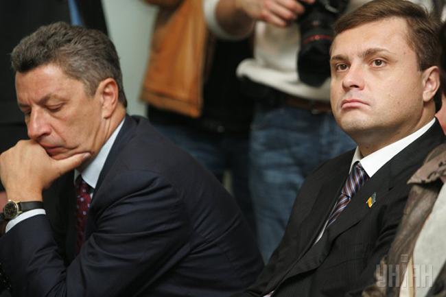 Юрій Бойко (ліворуч) разом з Сергієм Льовочкіним