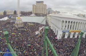 В Луганске поддержали Евромайдан