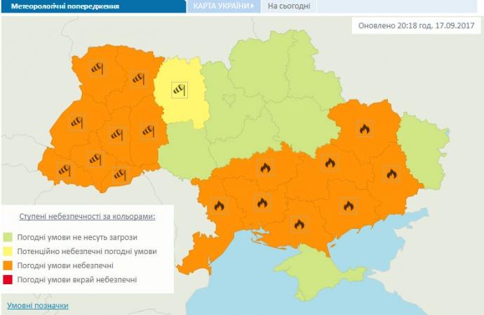 Негода вУкраїні знеструмила півтисячі населених пунктів: подробиці і карта