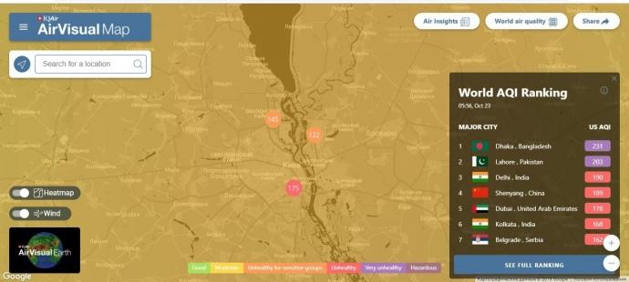 Київ обігнав Пекін за рівнем забруднення повітря