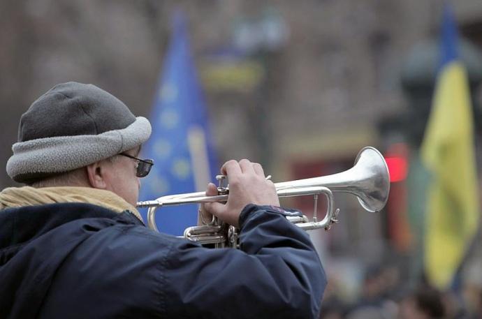 ВХарькове начетвертую годовщину Евромайдана собралось народное вече