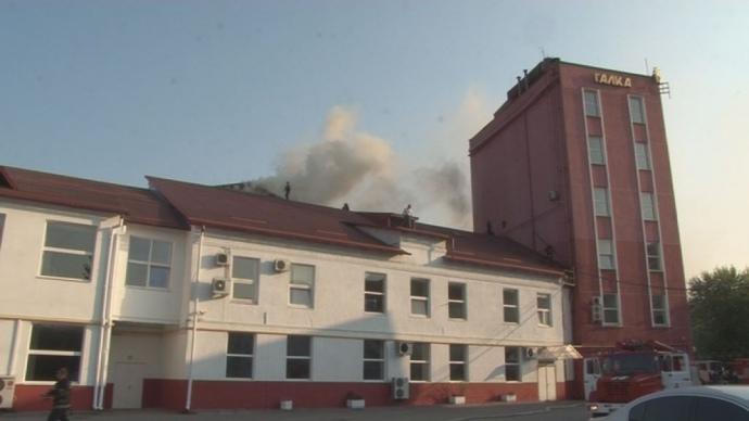 ВоЛьвове произошел большой пожар накофейной фабрике «Галка»