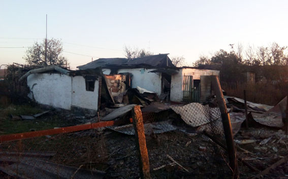 Взоне АТО под обстрел попали два поселка, есть серьезные разрушения