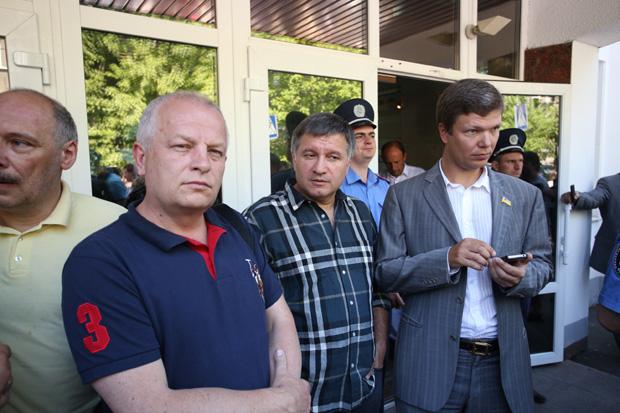 Депутаты Арсен Аваков и Леонид Емец