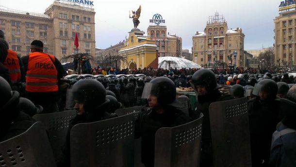 Майдан утром 11 декабря