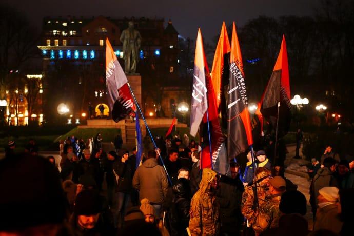 «Марш Бандери»: уКиєві розпочалася смолоскипна хода