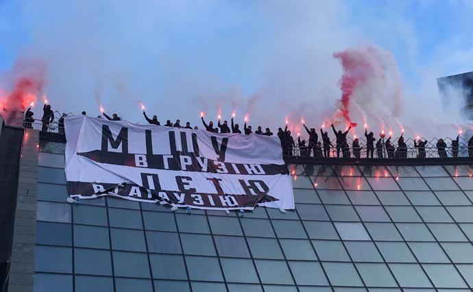 «Кава наХрещатику»: уКиєві противники Саакашвілі влаштували незвичайну акцію