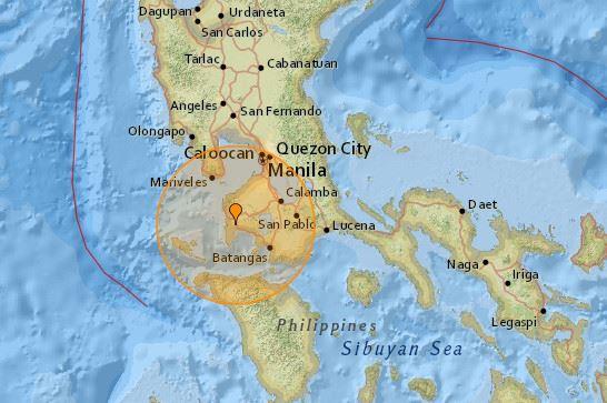 На Філіппінах зафіксували землетрус магнітудою 5,4 бали