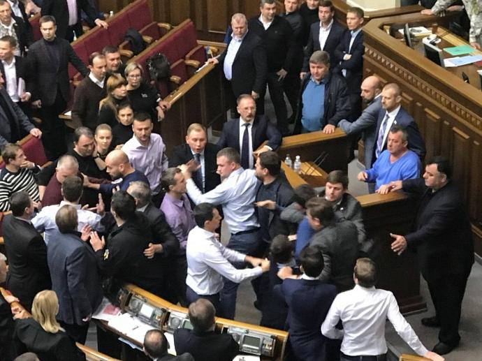 Бійка між депутатами Ради