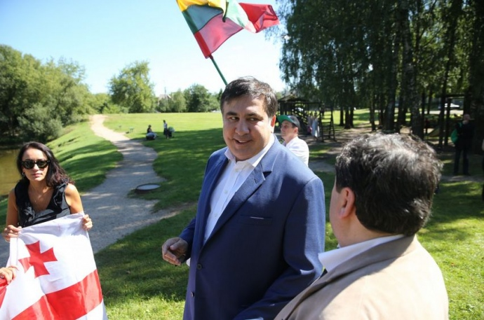Саакашвілі у Вільнюсі