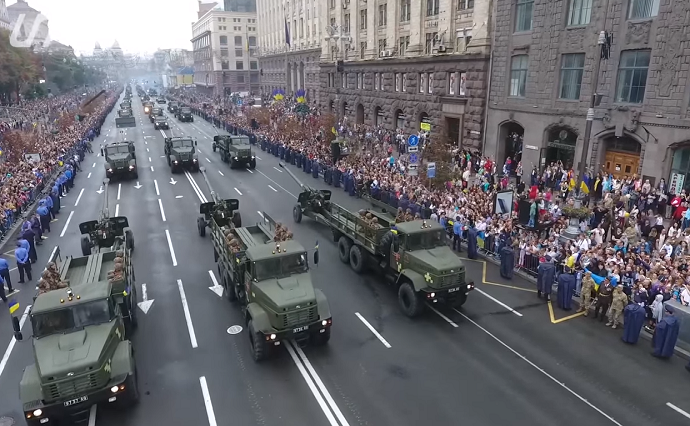 Parade in honor of Independence of Ukraine, 24.08.2016