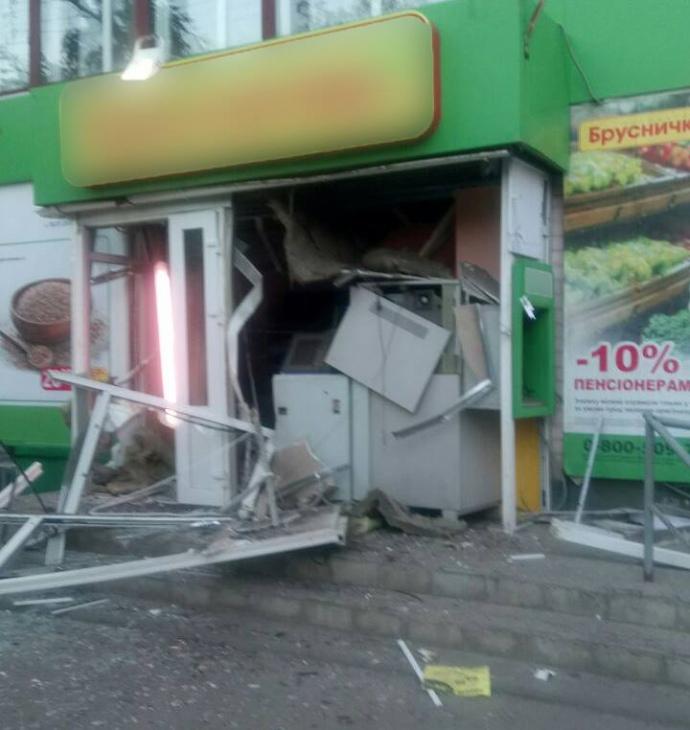 ПоХарьковом взорвали банкомат «Приватбанка»