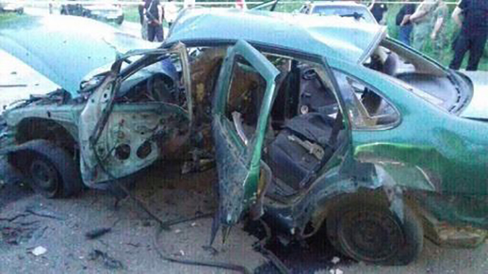 На Донеччині вибухнуло авто зі співробітниками СБУ, 1 загиблий
