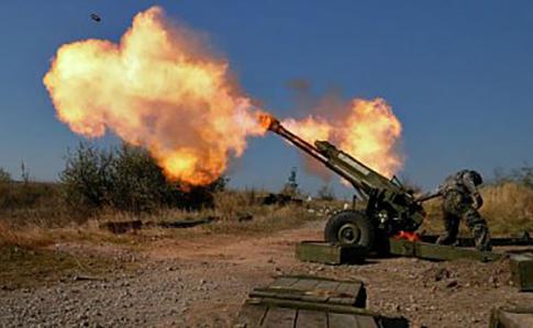 НаДонбассе русские оккупанты пустили вход тяжелые минометы ивооружение БМП