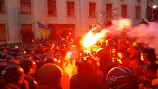 Під АП, 1 грудня. Фото Валерії Івашкіної