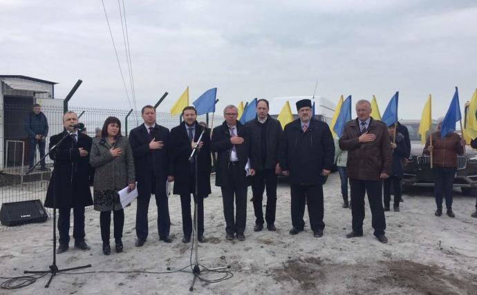 НаЧонгаре официально открыли радиовышку для вещания на захваченный Крым