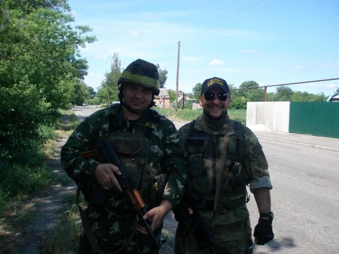Перший комбат Андрій Янченко (праворуч) та другий – Євген Лавров (зліва)