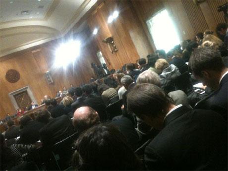 На комітетських слуханнях. Фото Сергія Лещенка, УП