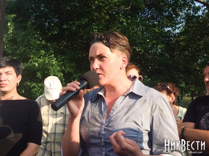 Нардепа Савченко закидали яйцями вМиколаєві