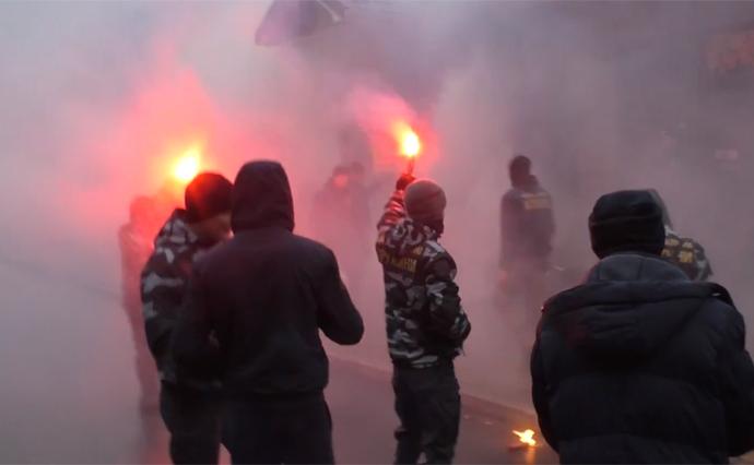 УКременчуці відбулися сутички між активістами Нацкорпусу і правоохоронцями— відео