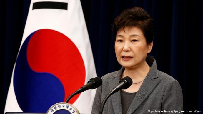 Президент Южной Кореи подает вотставку