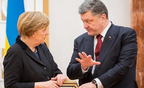 Порошенко рассказал Меркель о