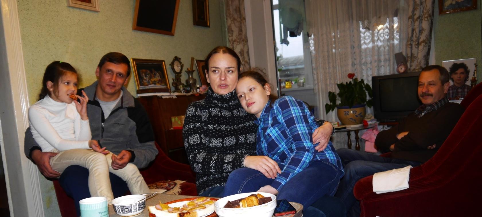 Родина Гуриків: батько Ігор, Йорданана, мама Ірина, Христина, та дід