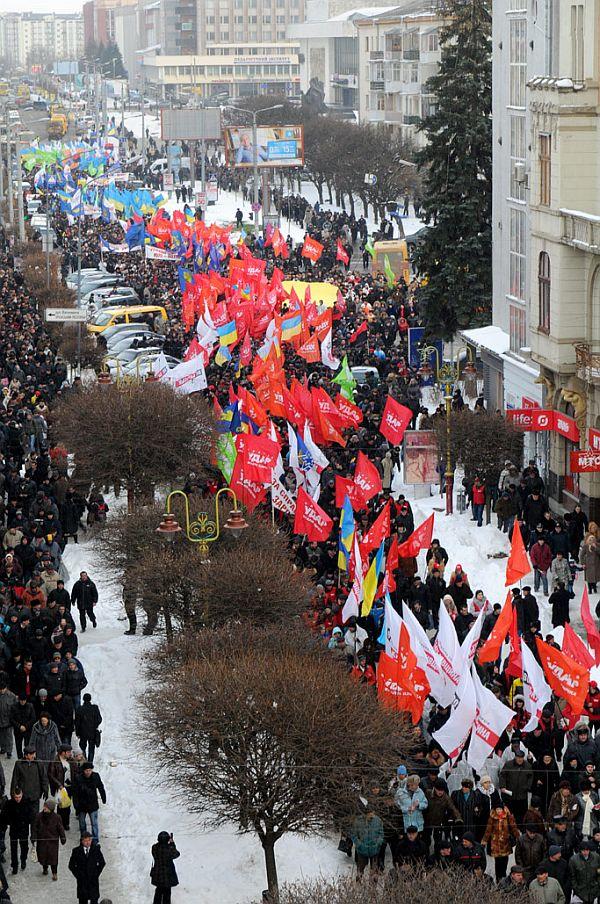 Марш Вставай, Україно! у Івано-Франківську, 28 березня