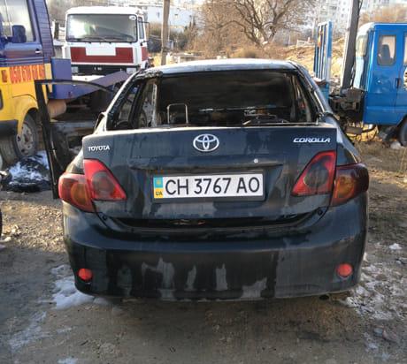 """В Севастополе сожгли авто уже втором """"ударовцу"""""""