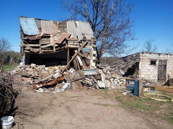 За роки війни в Жованці зруйновано 60% будинків. Станом на травень-2017 тут продовжує мешкати 150 осіб