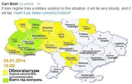 Если власть Украины пойдет на силовое решение ситуации, она потерпит поражение, - Бильдт