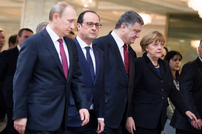 Встреча «нормандской четверки»: Порошенко иПутин непожали друг другу руки