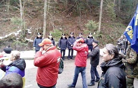 Пікет дачі Медведчука. Фото Мукачево.net