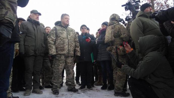 П.Порошенко прибыл наоткрытие телебашни нагоре Карачун