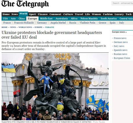 СМИ о Евромайдане:Янукович прячется, революция идет