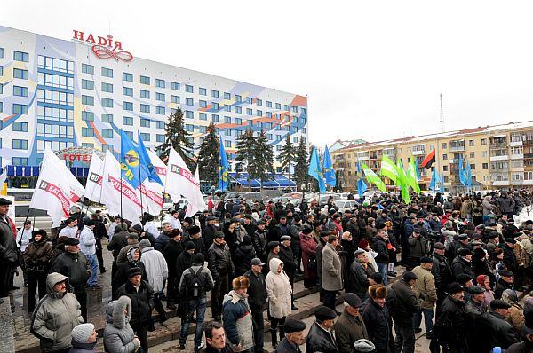 В Івано-Франківську вийшли на майдан