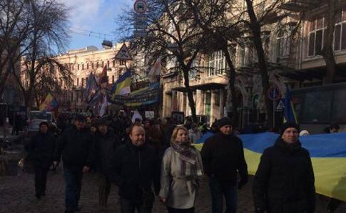Организаторы блокады Донбасса провели вече наМайдане
