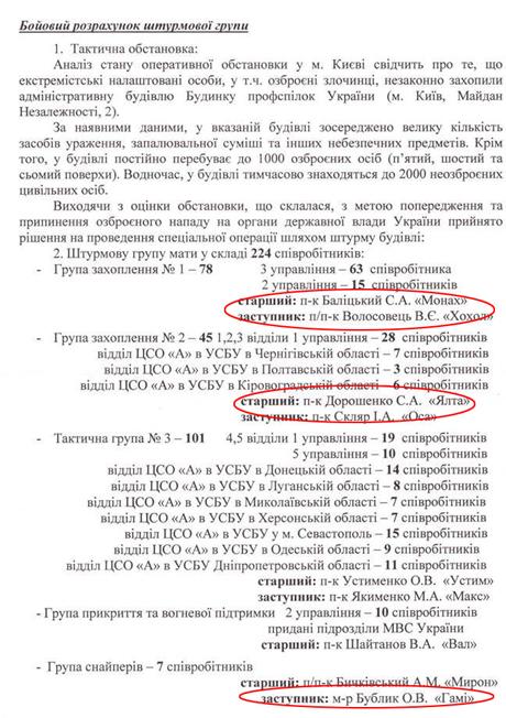 Вказані позивні, які раніше звучали у записах з рації