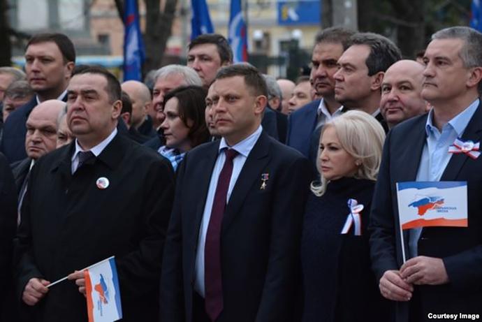 Главари группировок Донбасса на праздновании аннексии Крыма.