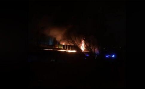 ВоЛьвове горел рынок «Галицкий перекресток»