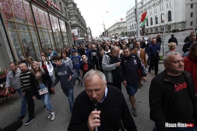 У Мінську пройшов «марш обурених білорусів»